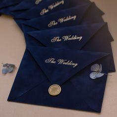 Navy Blue Velvet envelopes as a part of wedding invitation kit Velvet Wedding Invitations, Indian Wedding Invitation Cards, Wedding Cards, Indian Invitations, Navy Wedding Invitations, Wedding Stationery, Desi Wedding, Blue Wedding, Rustic Wedding