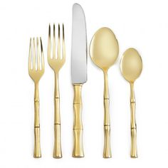 C. Wonder Gold Bamboo 5 Piece Place Setting
