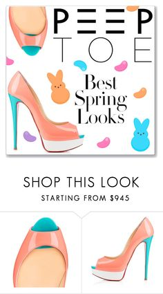 """""""Peeps!"""" by ambervogue ❤ liked on Polyvore featuring H&M and Christian Louboutin"""