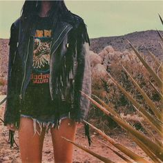 in the chopper babe leather fringe jacket, available now in the sale section 🌵 Riot Grrrl, Grunge Style, Coach Outfits, Vintage Outfits, Vintage Fashion, Fringe Leather Jacket, Personalized T Shirts, Festival Outfits, Jimi Hendrix