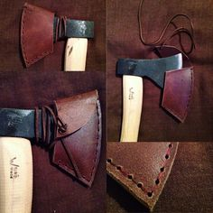 Chocolate Brown Leather Axe Sheath £22 www.thewoodlandwitch.co.uk