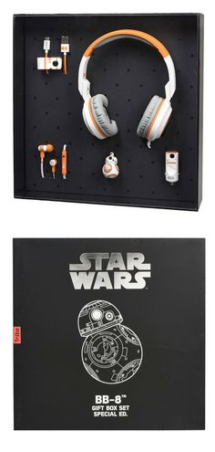 This Star Wars inspired BB8 headphone gift set is so awesome. The perfect gift idea for every fan. My geeky, nerdy friend would love this gift pack. #ad #starwars #headphone #giftidea #bb8 #fangift #geeky #nerdy