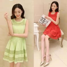 Round neck chiffon lace dress,more details: www.favechic.com, we are FREE SHIPPING and give you CASHVOUCHER only by subscribe ♥ #favechic #fashion #ootd #style #dress #best #top #korea #dress