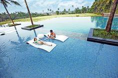 Relax like a king in the huge Infinity Pool #Goa #SwimmingPool