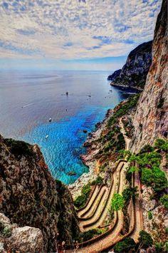 A ilha de Capri, na Itália