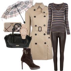 """Burberry Trench - Outfit Only"" by pmcdl on Polyvore"