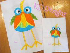 Googly Eyed Birds 01 Embroidery