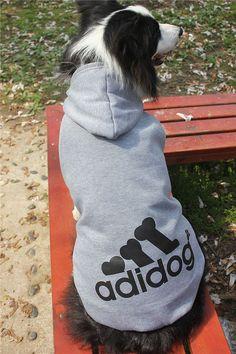 Adidogs Sweatshirt for Big Dogs (New! Marley s Pet Gear a80bb2ec1