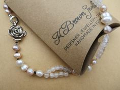A personal favourite from my Etsy shop https://www.etsy.com/uk/listing/126079318/pearl-necklace-quartz-bead-necklace