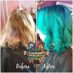 Making everyone mermaids one by one. Teal hair ✌ #manicpanic #btcpics #idohair #modernsalon #whocuts #behindthechair #hottoolspro #ombrehair #ombre #colormelt #hairpainting #hairporn #hairbykaseyoh #unicorntribe #dyeddollies #thehairafter #dollswithdye #dyedgirls #bluehair #tealhair #mermaidhair #mermaid #btconeshot_rainbow #btconeshot_color #btconeshot_transformation