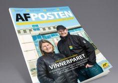 AF Posten magazine by AF Gruppen. Pinned from www. Magazine Design, Baseball Cards, Sports, Hs Sports, Sport