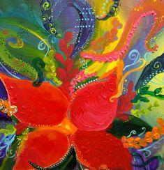 Blume Modern Art Acrylic Painting Wall Decor