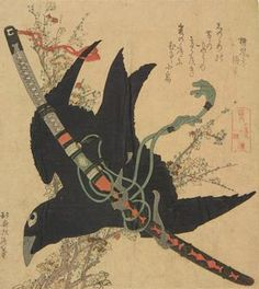 Artist: Katsushika Hokusai Title:Crow and Sword