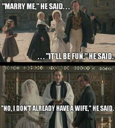 Mr. Rochester said a lot of things!