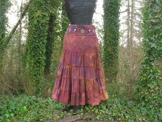 Skirt Boho Gypsy Long Maxi Skirt SUZY label by ExperienceVintage1, $65.00