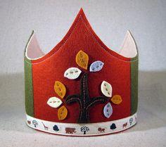 Autumn felt crown