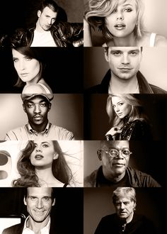 Captain America: The Winter Soldier cast....the perfection is just adorably amazing