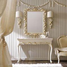 Luxurious Italian Ivory and Gold Bathroom Basin