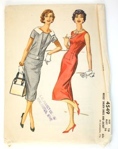 McCall's 4549 Misses 1950s Sheath Dress Pattern and Jacket Bust 36 Vintage Sewing Pattern Sleeveless. $18.75, via Etsy.