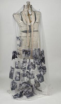"Ruth Lozner ~ ""Nana's Survival"" Mixed Media 18 x 54 x 20 via + ©Artist… Paper Fashion, Fashion Art, Fashion Design, A Level Textiles, Costume, Textile Artists, Art Plastique, Wearable Art, Collage Art"