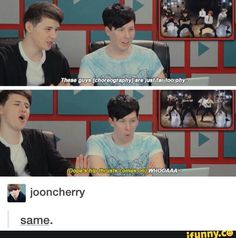 I didn't know whether to put this on my Dan and Phil board or my bangtan board. So I'll do both^_^