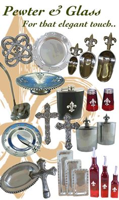 Just a few pieces of pewter......over 1,500 in stock!