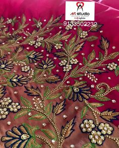 For customising your outfits - whatsapp 9133502232 . Cutwork Blouse Designs, Kids Blouse Designs, Wedding Saree Blouse Designs, Hand Work Blouse Design, Saree Blouse Neck Designs, Hand Designs, Bead Embroidery Patterns, Hand Work Embroidery, Hand Embroidery Designs