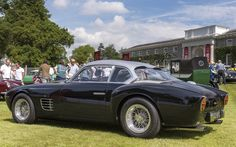 A long wheelbase 250 GT from 1957, as converted by Zagato and re-bodied in the 1990s under the direction of Elio Zagato (it is described as a 'Sanction' car)