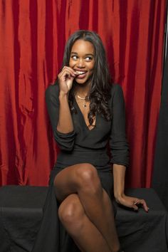 Laura Harrier gets cheeky (Photo Courtesy of Victoria Will / TV Guide Magazine)