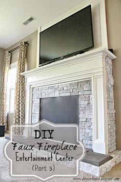 Bless'er House: DIY Faux Fireplace for Under $600 {The Big Reveal} um... yes…