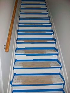 Pine Tree Home: Painted Stairs  Two Step 1 Pull Up Carpet. Never On