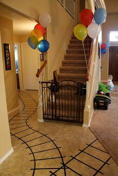 Great ideas for a train birthday party. @Kellie Dyne Dyne Richards carter would looooove this!