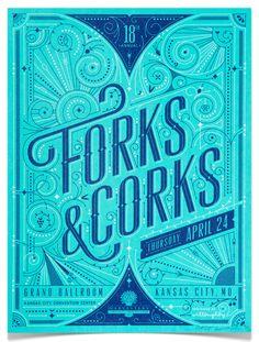 Forks & Corks Poster