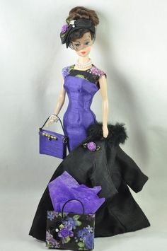 """Handmade Vintage Barbie/Silkstone Fashion by P. Linden-11pcs """"Shopping In Style"""""""
