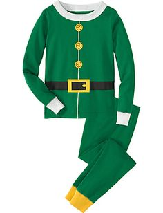 """Elf"" Long John Pajamas In Organic Cotton by Hanna Anderson....I'll take two, please."