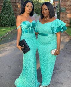 17 Flawless Bridesmaids and Wedding Guests - African Wedding Outfits Best African Dresses, African Lace Styles, African Fashion Ankara, Latest African Fashion Dresses, African Print Fashion, African Style, Latest Fashion, Style Fashion, Aso Ebi Lace Styles