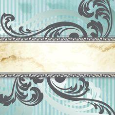Vintage Floral Wallpaper Stripe Background - http://www.dawnbrushes.com/vintage-floral-wallpaper-stripe-background/