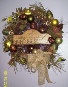 Hunting Wreath $120