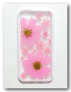 Handmade iPhone 6 case, Resin with Real Flowers, Pressed flower (101)