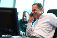 Coach Dantonio shares a laugh with newly signed offensive lineman, Brian Allen, of Hinsdale, Illinois.