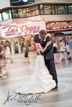 Vegas wedding smooches...better location needed