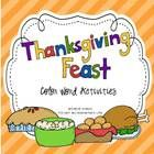 This Thanksgiving Feast Color Word Activities. $