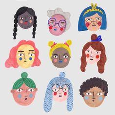 Girl Power Cute poster prints by Daria Solak Illustration Mignonne, Art Et Illustration, People Illustration, Character Illustration, Arte Pulp Fiction, Arte Hippy, Art Design, Logo Design, Posca Art