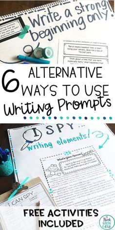 Are you looking for fun and creative ways to use writing prompts with your students? These writing prompt lesson ideas are perfect for young writers. These lesson ideas will help you use prompts in unique ways like round robin writing and annotation group work activities. Perfect for writing centers, writer's workshop, small group work and writing stations. FREE printables included! Click to see more