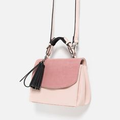 CONTRAST MATERIAL CITY BAG-View all-Bags-Woman-COLLECTION SS16 | ZARA Turkey