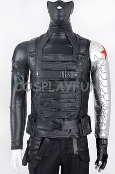 Captain America Winter Soldier Bucky Barnes Cosplay Costume | eBay