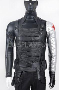 Captain America Winter Soldier Bucky Barnes Cosplay Costume | eBay