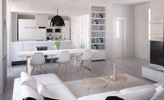 ARREDAMENTO E DINTORNI: progetto e render ristrutturazione appartamento di tre locali