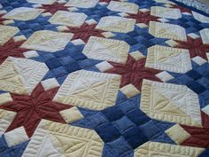 stars -- the most beautiful red, white and blue quilt I've seen.  Dad would love!