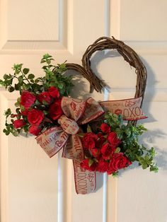 VALENTINE WREATHHeart Grapevine Wreath Valentine Red by Toleshack